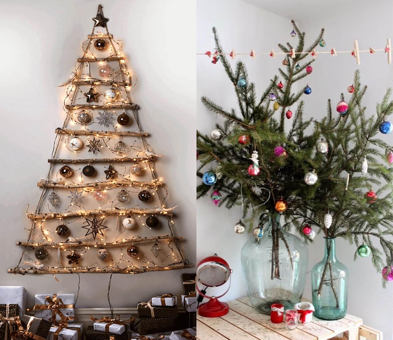 alternatieve kerstbomen: origineel & sfeervol